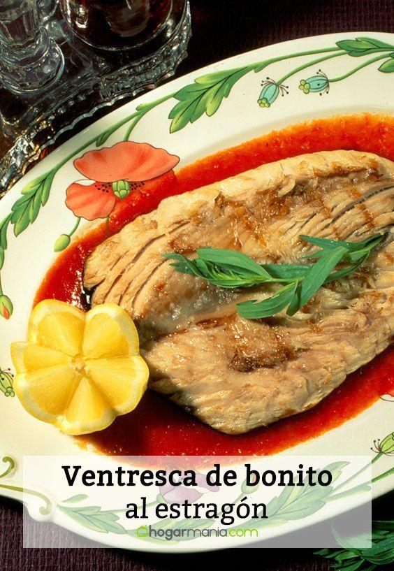 Receta de Karlos Arguiñano de ventresca de bonito al estragón.
