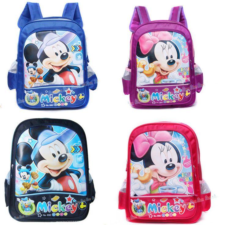 shij mickey minnie cartoon princess children school bags school bags $6.00