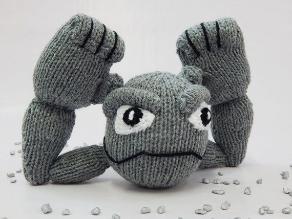 GEODUDE POKEMON hand knitted Pokemon toy by MadeWithAltitude