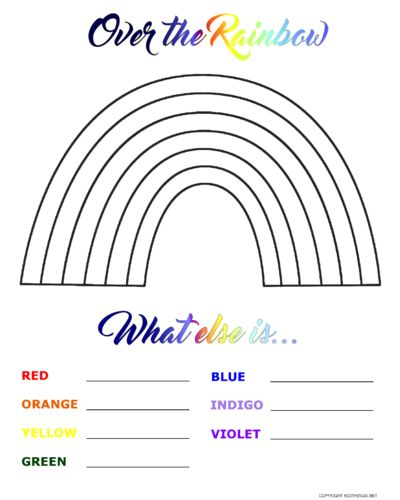 Free Over the Rainbow Printable to Celebrate the Seasons #GoldfishMoments (ad)