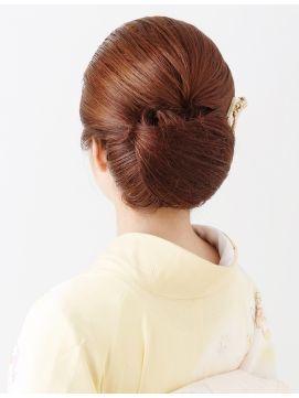 【訪問着ヘア】和髪でオールバックにしたクラシックヘア★夢館★