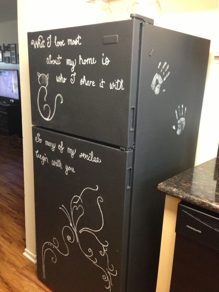 Home Decor Chalkboard Paint Fridge 2 Small Cans Of Primer And Cboard