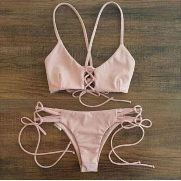 summer style 2015 swimsuit women bikini sexy Beach Swimwear women swimwear maillot de bain bikinis push up for women