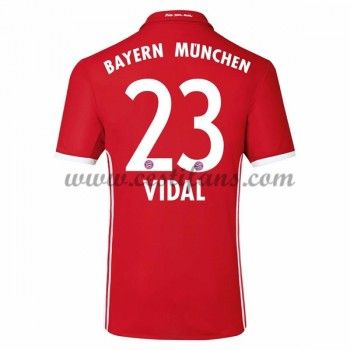 Bayern Munich Fotbalové Dresy 2016-17 Vidal 23 Domáci Dres
