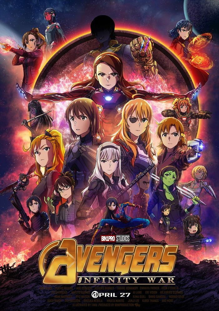 Thanos All of you, anime girls! Avengers girl
