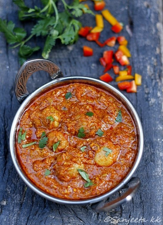 Baby potatoes in spices and yogurt aka Dum Aloo. Need to try this recipe Www.spicepots.com