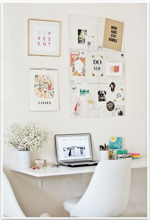 Bedroom desk space