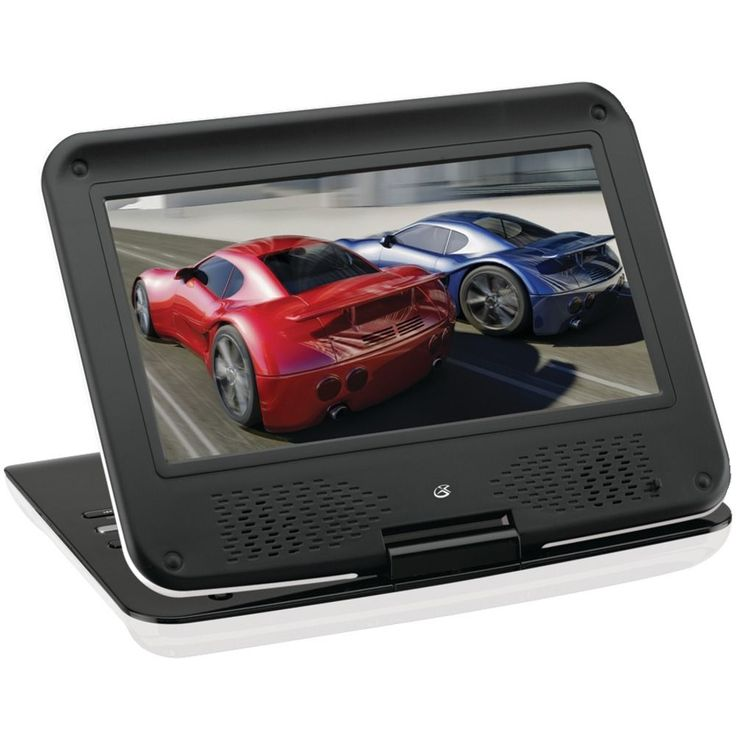 9 portable dvd player stereo kids travel electronics disc monitor screen audio gpx