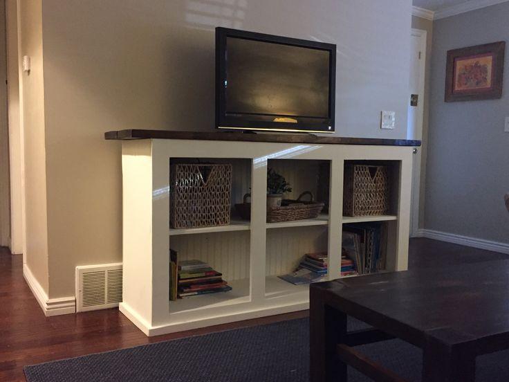Ана Белый | Подставка под телевизор от Grandy раздвижных дверей консоли - Сделай сам Проекты