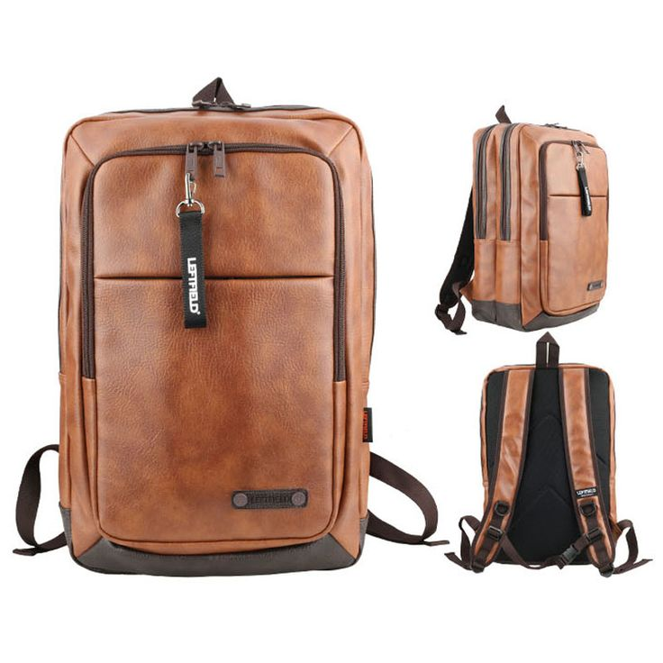 Mens Brown Backpack for College Students LEFTFIELD 669 (13)