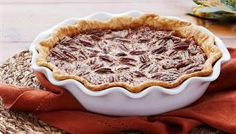 Classic Pecan Pie, Karo Syrup  add 2 tablespoons quality bourbon