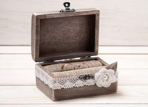 Ehering Träger Box Ehering Box rustikalen von InesesWeddingGallery