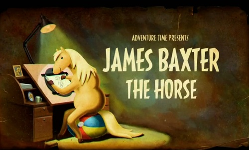 Adventure Time Title Card S5 Ep18 James Baxter the Horse