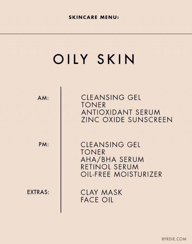 Skincare Menu Oily Acne Prone Skin Diy Beauty Skincare Top10skincreams Tips For Oily Skin Oily Skin Skin Care