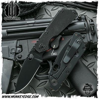Strider Knives Folder: SNG Standard - Cerakote Black