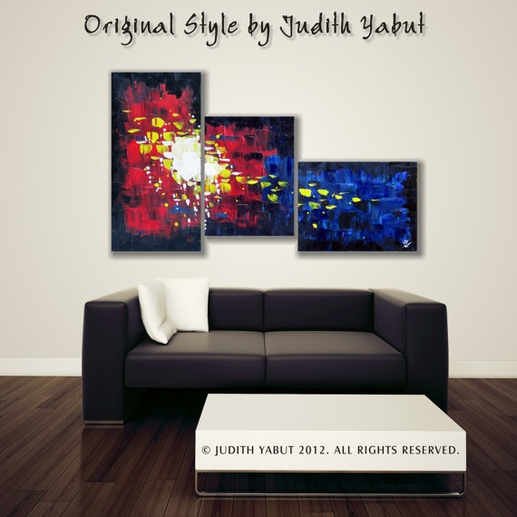 Original Modern Abstract Painting Palette Kife by JudithYabut, $198.00