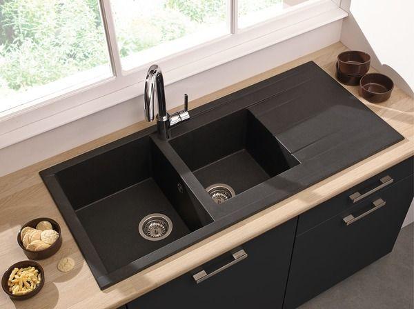 Cooke And Lewis Dim L 110 X L 50 X Ep 21 Cm Bricodepot Bricolage Projet Interieur Maison Appartement Cuisine Decor En 2020 Evier Noir Evier Evier Encastre