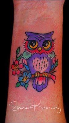 owl wrist tattoo - Google Search