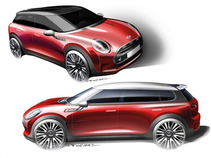 MINI Clubman Concept Design Sketches