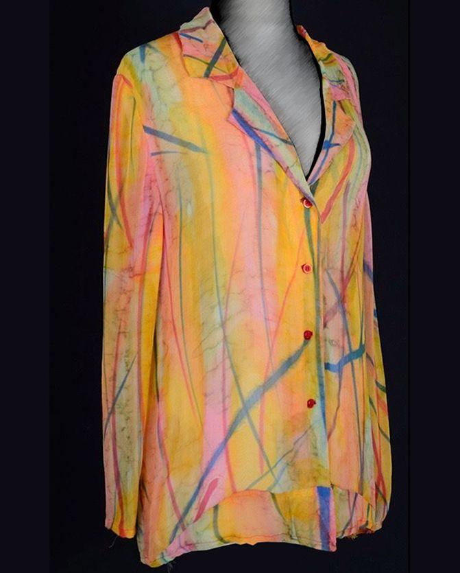 A vintage trippy hippy 1960s ACID TRIP swimsuit SHEER coverup beach COAT