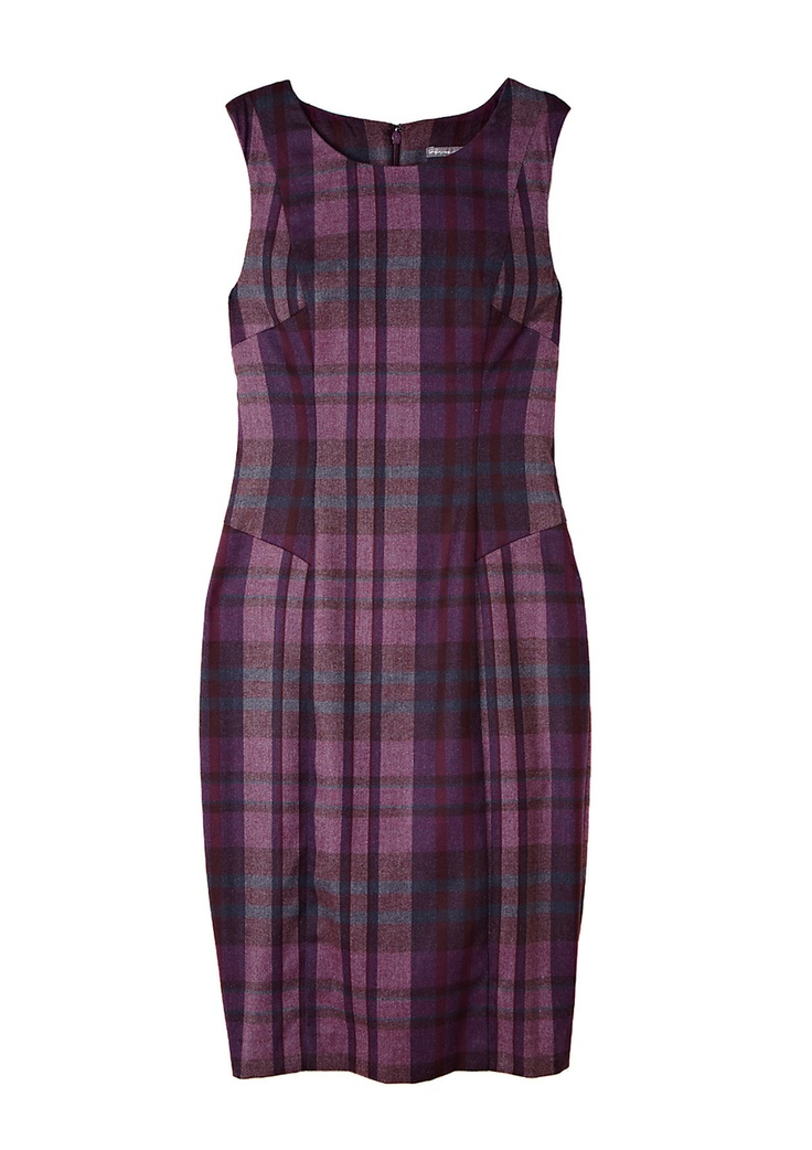 Purple plaid in a chic silhouette
