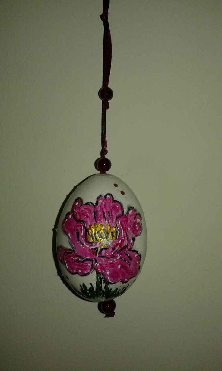 Hand painted egg.