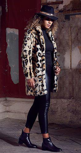 a66af248b4d6 Rino & Pelle Faux Fur Leopard Coat | QVC | Leopard coat, Winter ...