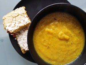 Courgettesoep met zoete aardappel #samensterk