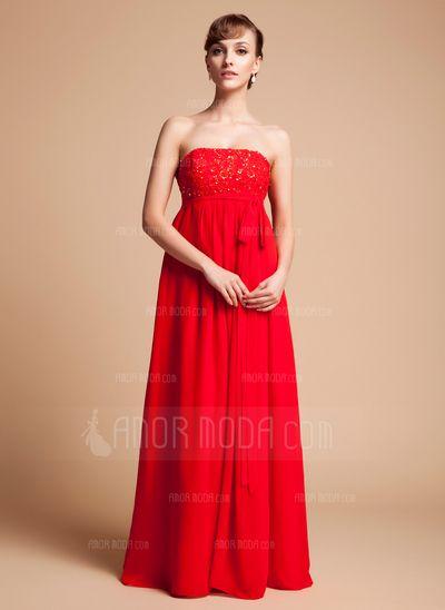 Свадебные платья для беременных невест - $136.99 - С завышенной талией Без лямок Длина до пола шифон шифон Свадебные Платье Для Беременных Невест с кружева Бисер блестками Бант(ы) (045004383) http://amormoda.ru/Empire-Strapless-Floor-length-Chiffon-Chiffon-Maternity-Bridesmaid-Dress-With-Lace-Beading-Sequins-Bow-S-045004383-g4383