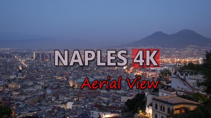 Ultra HD 4K Naples Italy Aerial View Mount Vesuvius Volcano Italian Travel UHD Video Stock Footage