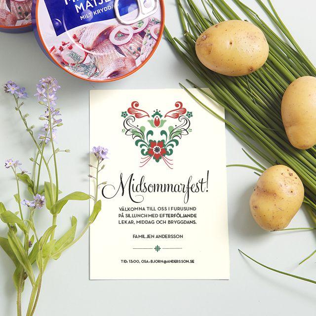 Midsummer Invitation / Midsommarinbjudan