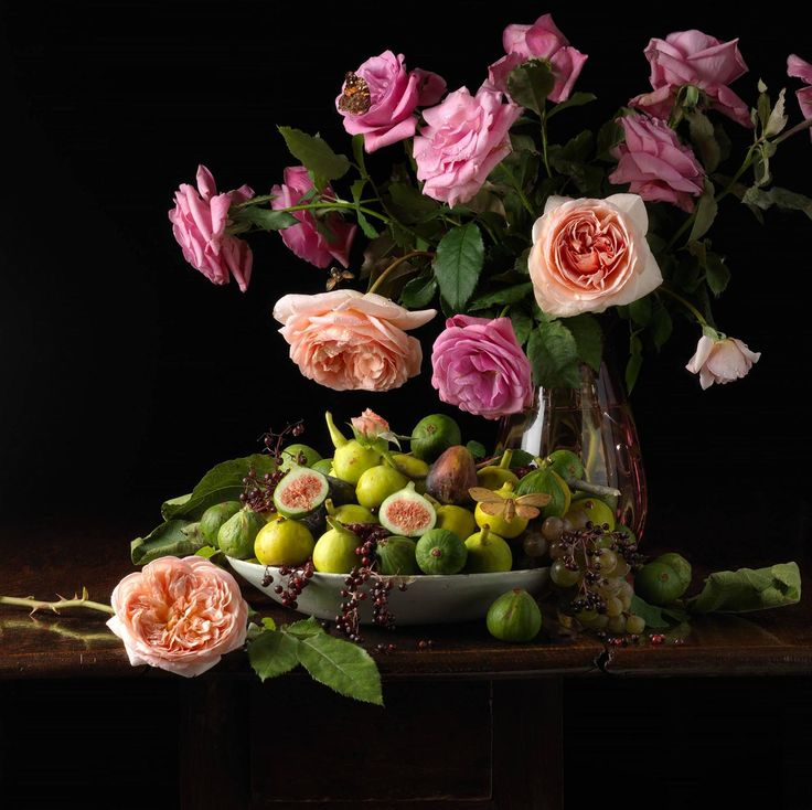 Roses and Figs   From a unique collection of still-life photography at https://www.1stdibs.com/art/photography/still-life-photography/
