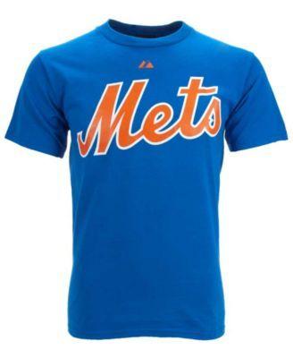 Majestic Men's Dwight Gooden New York Mets Cooperstown Player T-Shirt - Blue XL
