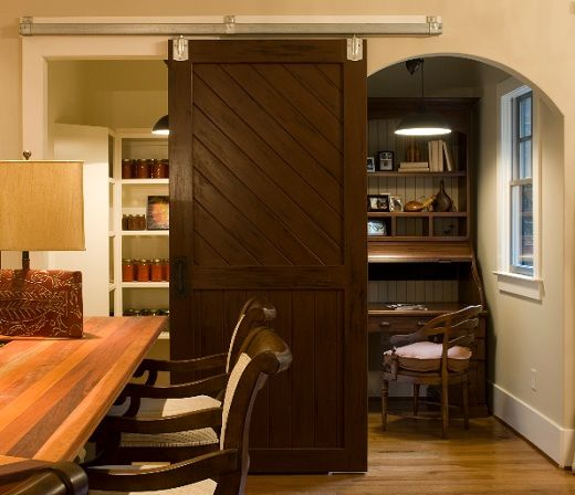 This Barn Door Serves A Decorative As Well As A Functional Duty In This  Dining Room · Barn Doors For HomesInterior ...