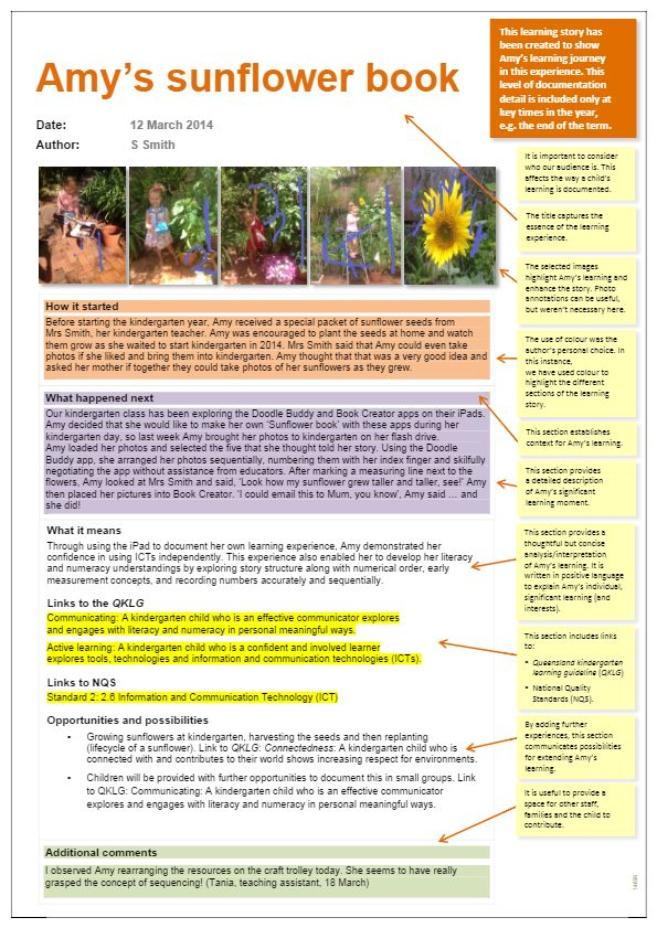 Observation (annotated) - Amy's sunflower book