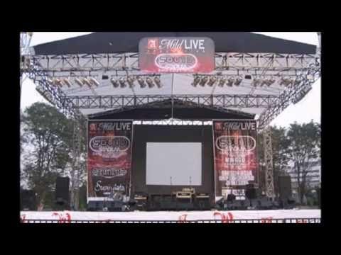 Dekorasi Panggung Megah Musik Rock