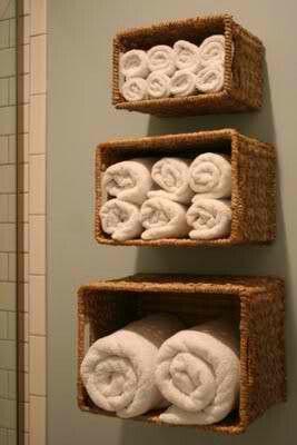 Bath towels - space saver ideas