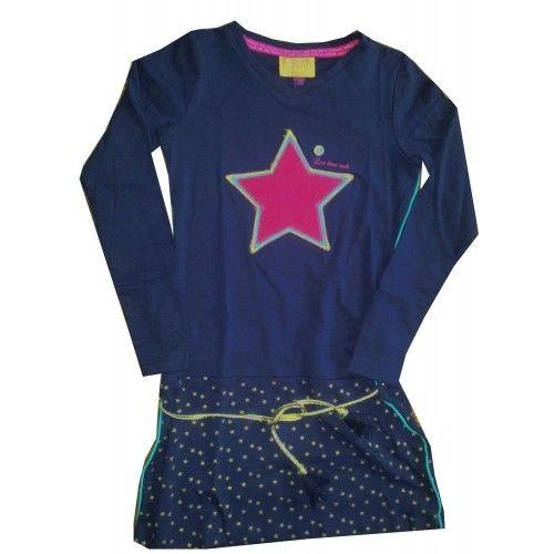 Quapi Jurk Astrid Navy bij Minimoda. #Meisjeskleding #Meisjes #Kinderkleding