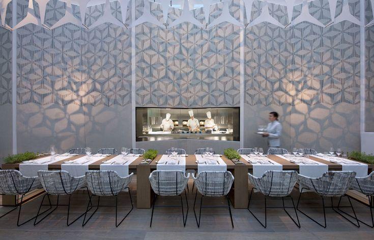 "restaurant   ""moments""   at hotel   ""mandarin oriental""   barcelona, spain   by patricia urquiola."
