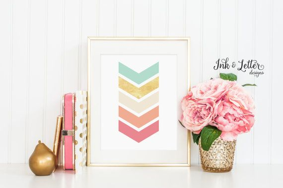 Hey, I found this really awesome Etsy listing at https://www.etsy.com/uk/listing/243596971/chevron-wall-art-nursery-wall-art-coral