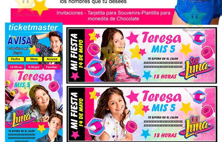 Kit Imprimible Candy Bar Soy Luna Golosinas Cumples Y Mas - $ 150,00