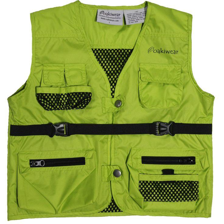 Oakiwear ultimate explorer vest for kids explorer vests for Kids fishing vest