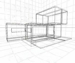 wire diagram view of a shipping container home