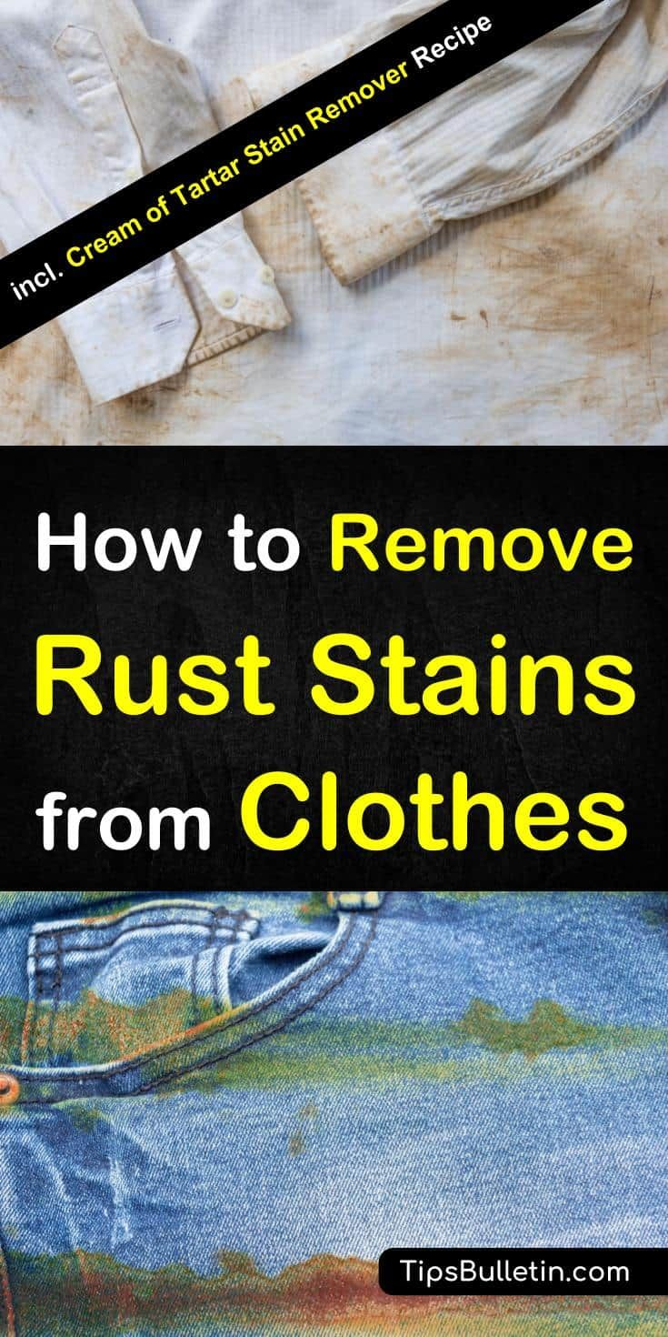 4 clever ways to remove rust stains from clothes remove