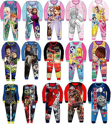 Kids Onesie Boys Girls Fleece All in One Character Childrens Pyjamas 1.5-8 Years