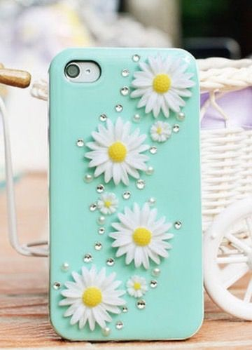 Flower bling phone case                                                                                                                                                                                 More