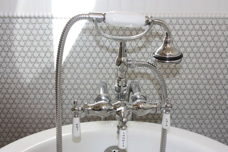 Birds of a Feather Design - bathrooms - traditional faucet, hot and cold faucet, claw foot tub faucet, claw foot bath faucet, gray penny til...