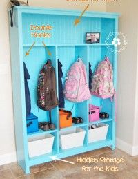 Make your own storage lockers! {Perfect for kids}