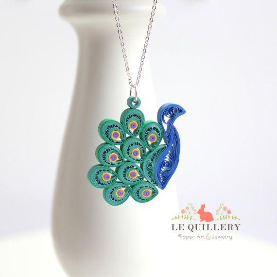 OOAK Handmade Paper Quilling Jewelry  Eco Friendly por LeQuillery