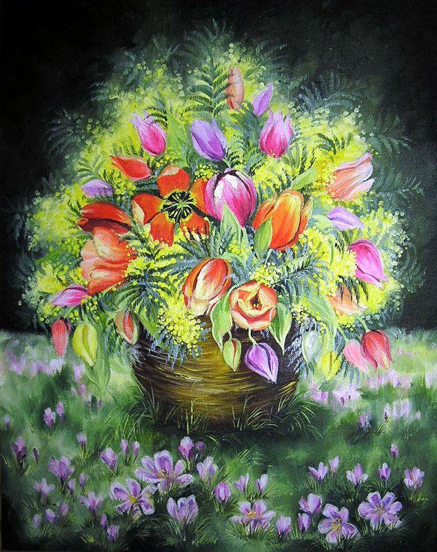Картины - Цветы - Весенний букет (Холст, масло)